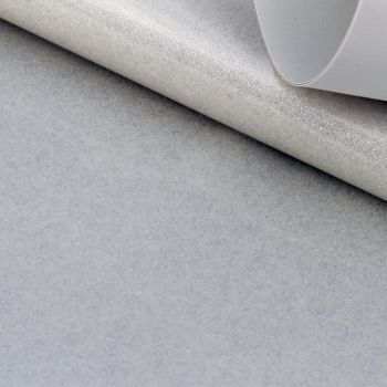 Platinum White Glitter Vinyl Fabric