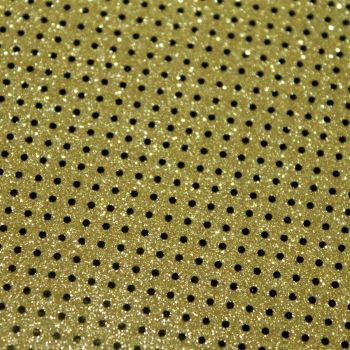 Polka Dot Glitter vinyl fabric ..Yellow