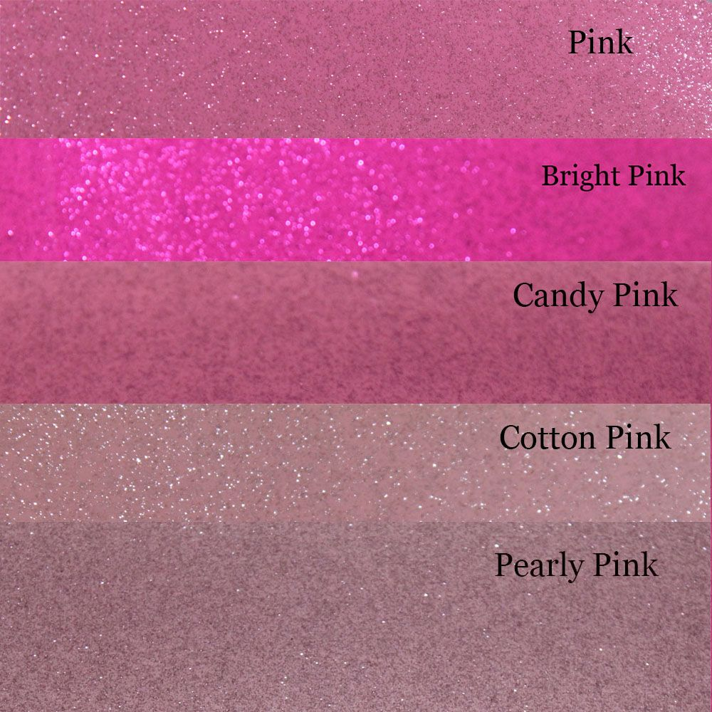 A4 Pink Glitter Vinyl Collection