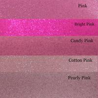 Pink Glitter Vinyl Fabric