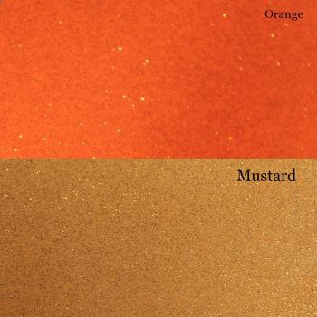 Orange And Yellow Glitter Vinyl Fabric