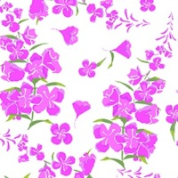 Wildflowers by Teresa Ascone for Clothworks Fabric.Wildflowers Tossed Floral White