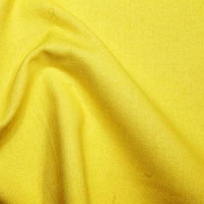Yellow Plain Cotton Fabric By Rose & Hubble