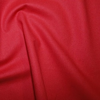 Red Plain Cotton Fabric By Rose & Hubble