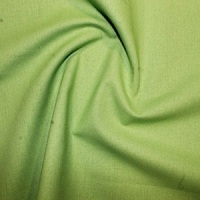 Lime Plain Cotton Fabric By Rose & Hubble