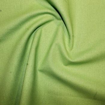 Lime Plain Cotton Fabric By Rose & Hubble