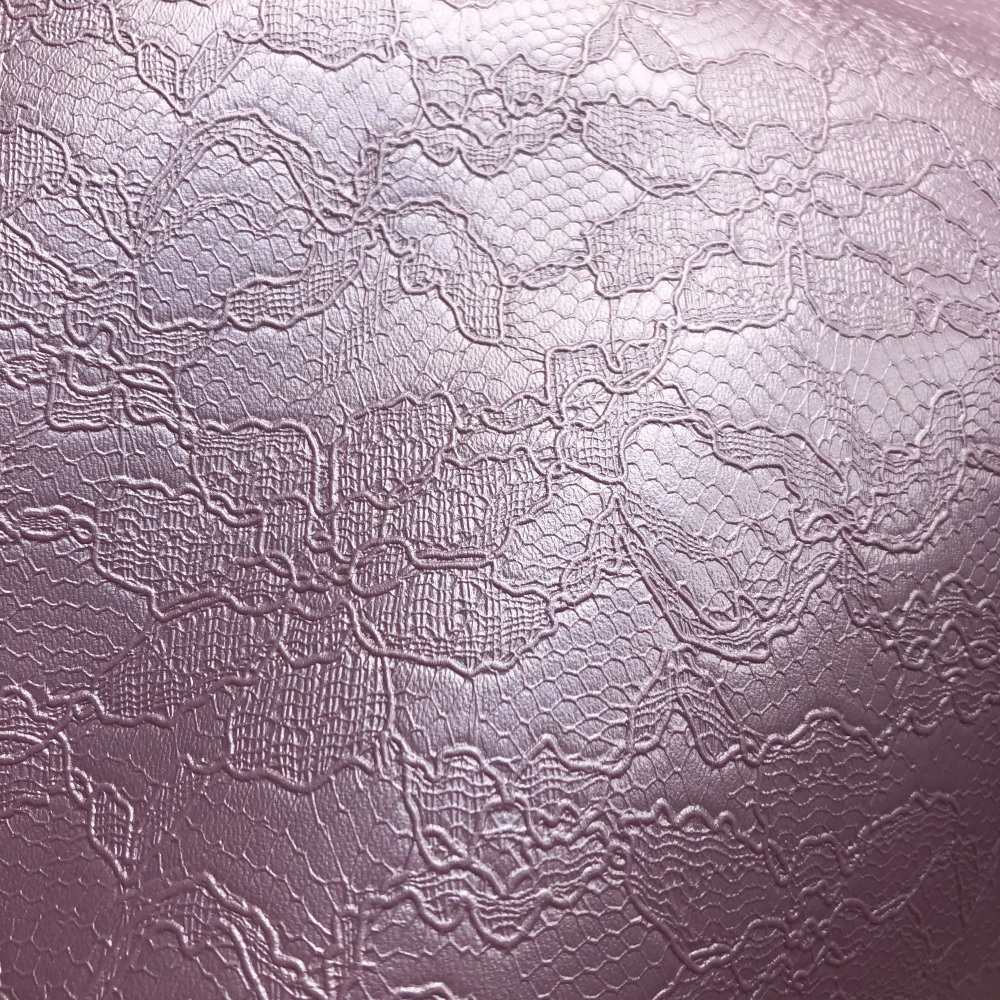 Lilac Lace Embossed Faux Leather