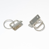 Key Fob Hardware, Ribbon  Key Fob  Style .Silver Nickel