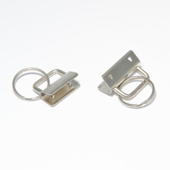 Key Fob Hardware, Ribbon  Key Fob  Style .Silver Nickel