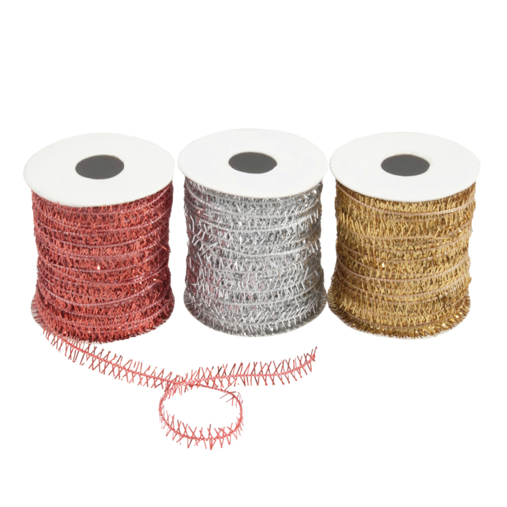 Metallic Twine Bag: 10m: Copper, Gold & Silver: 3 Pieces