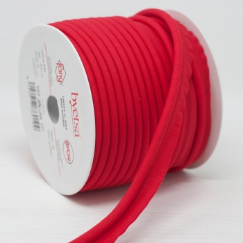 Poly Cotton Piping Cord Red  12mm wide