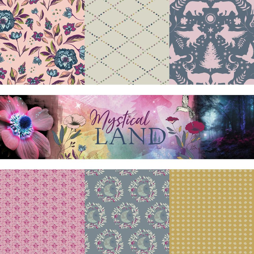 Mystical Land Alba Glisten 10 Fat Quarters