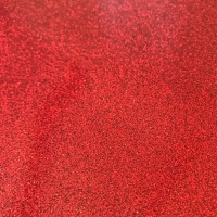 Red Soft Glitter Vinyl Fabric A4 or A3