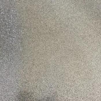 Silver Soft Glitter Vinyl Fabric A4 & A3 Sheets