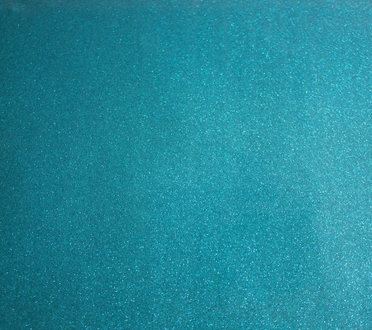 Turquoise Soft glitter vinyl fabric A4 & A3