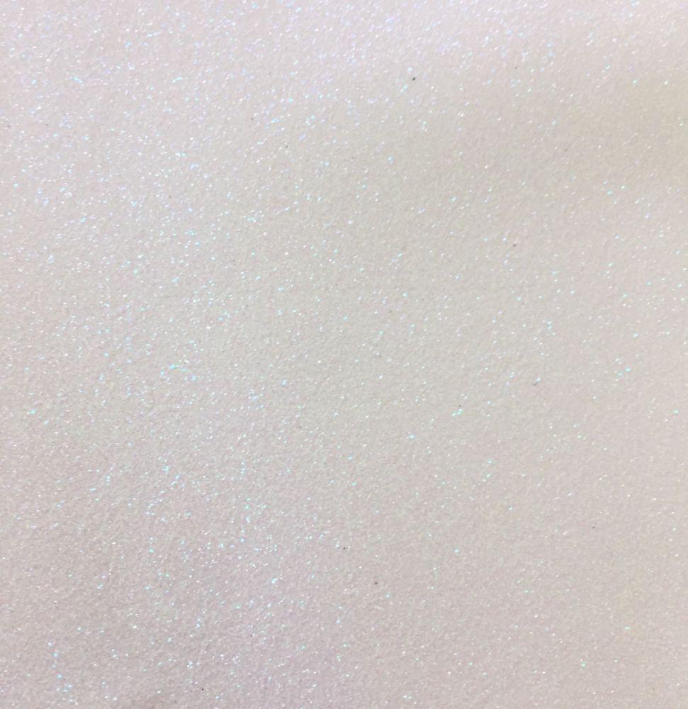 White soft glitter vinyl Fabric A4 & A3