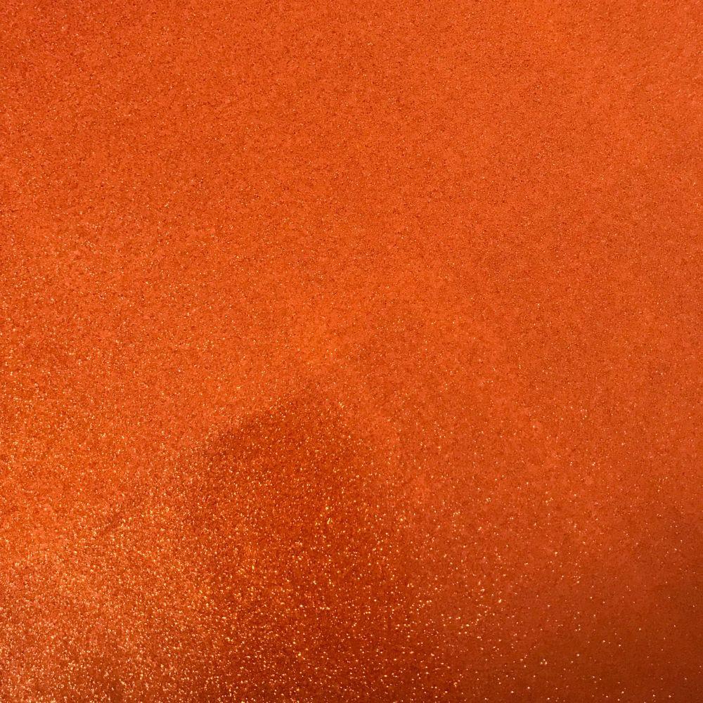 Orange Soft Glitter Vinyl Fabric A4 & A3