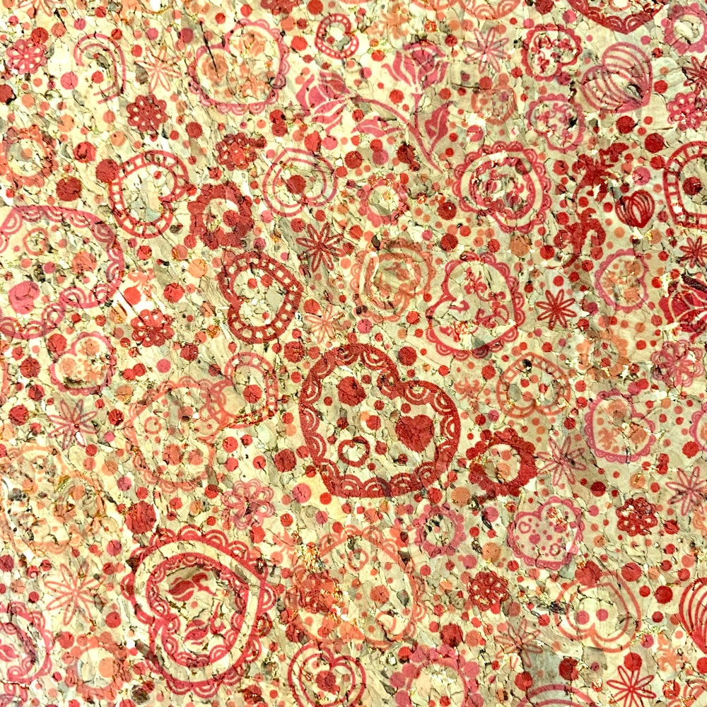 Red Heart Paisley Cork Fabric