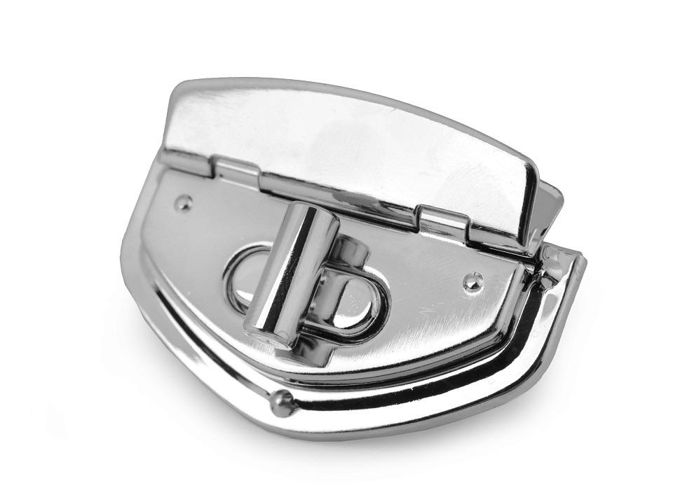 Pentagon Silver Handbag Twist Lock