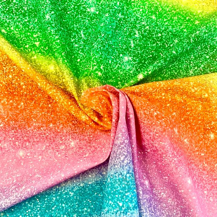 Glitter Rainbow Cotton