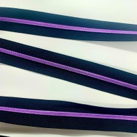 Purple Nylon Continuous Zipper  Size 3