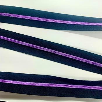 Purple Nylon Continuous Zipper  Size 3 or 5