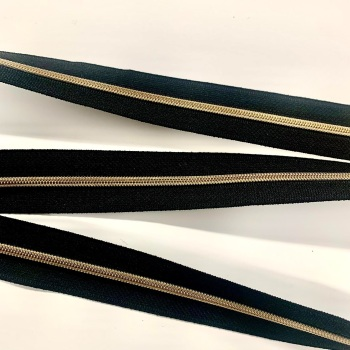 Gold  Nylon Continuous Zipper Size 3 and 5
