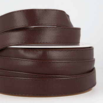 Dark Brown Faux leather webbing