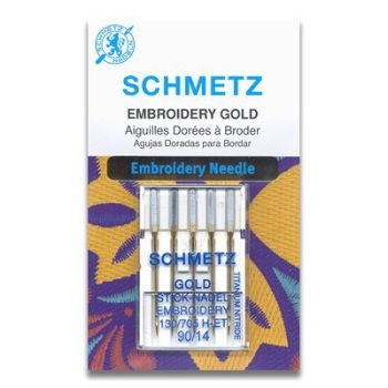 Schmetz Gold Embroidery 90/14