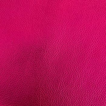 Hot Pink Metallic Faux leather