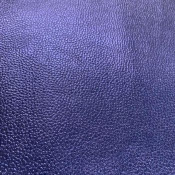 Dark Blue Metallic Faux Leather