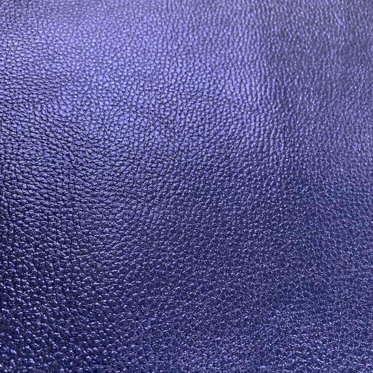 Dark Blue Metallic Faux Leather