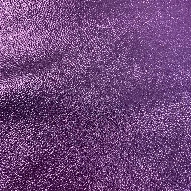 Purple Metallic Faux Leather