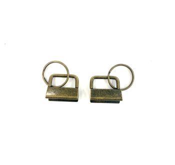Key Fob Hardware, Ribbon Key Fob Style , Antique Bronze