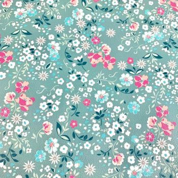 Spring Floral Printed faux leather