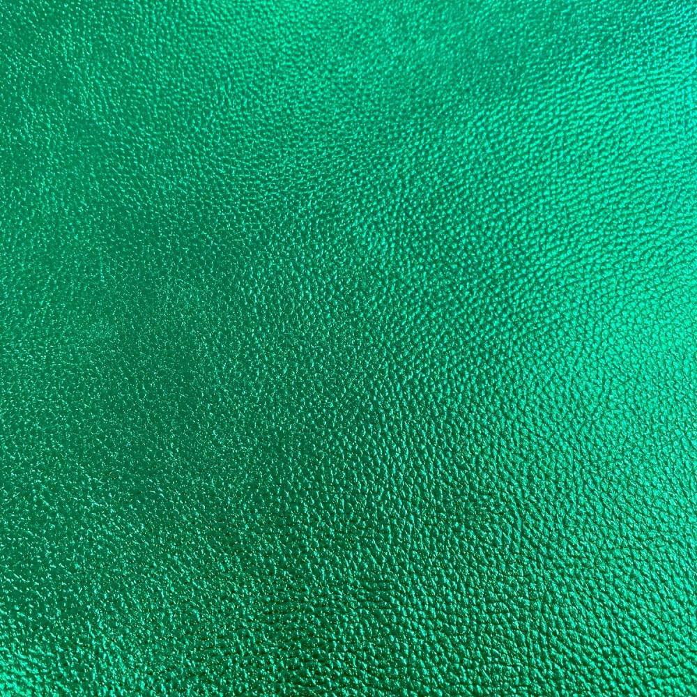 Emerald Green Metallic Faux leather