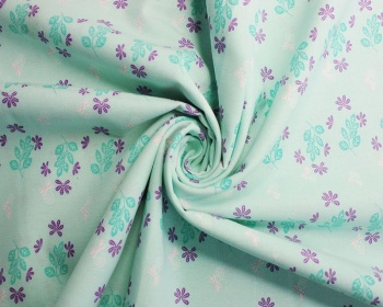 Floral Leaves Organic Cotton