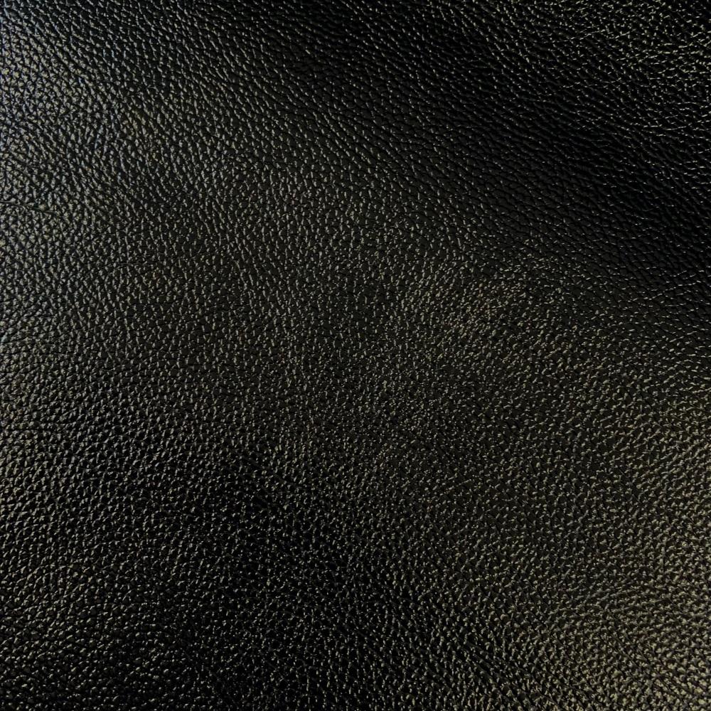 Black Metallic Faux leather