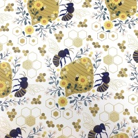 Honeycomb Printed faux leather