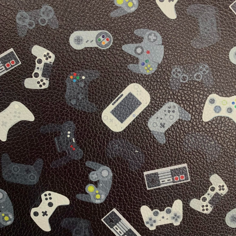 Retro Gaming Printed Faux Leather