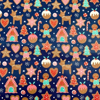Gingerbread faux leather