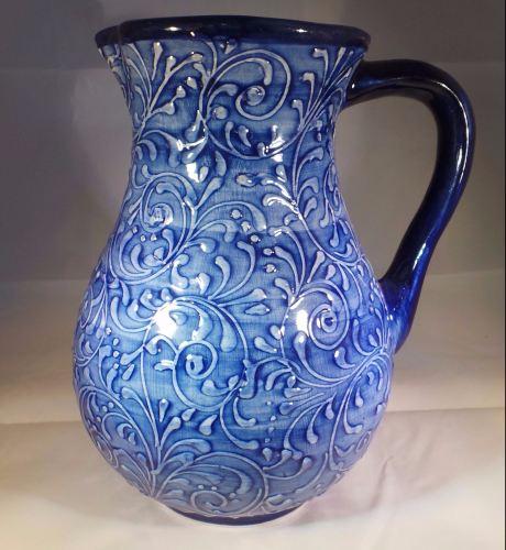 Large Jug - Blue Swirl