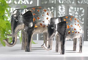 Elephant Nickel Tea Light Holder
