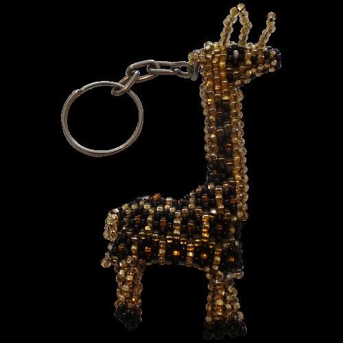 Giraffe Beaded Keyring