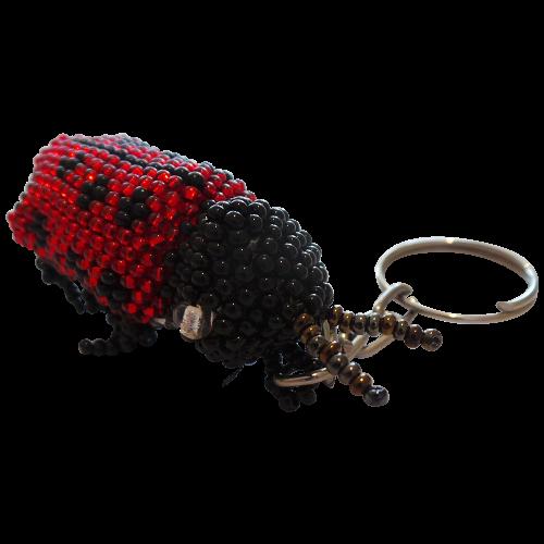 Ladybird Beaded Keyring