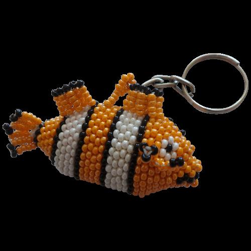 Nemo Clownfish Beaded Keyring