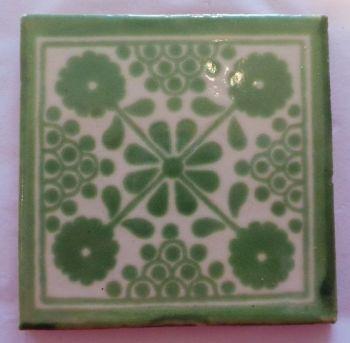 Handmade Terracotta Tile Coaster - M34
