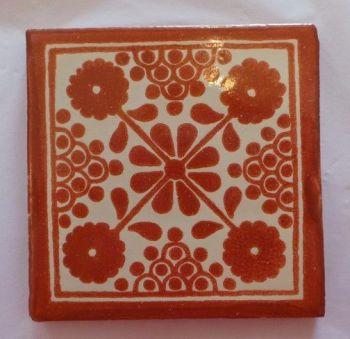 Handmade Terracotta Tile Coaster - M35