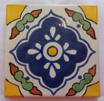 Handmade Terracotta Tile Coaster - M38