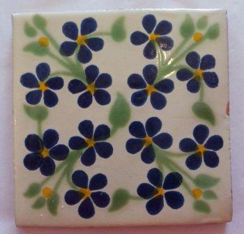 Handmade Terracotta Tile Coaster - M40
